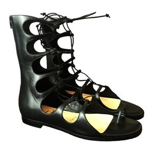 NEW Sparty Nappa Gladiator Sandals - Black